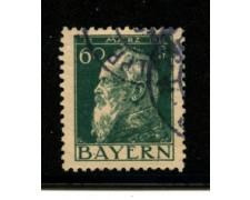 1911 - LOTTO/18737 - BAVIERA - 60p. OLIVA  II° TIPO - USATO