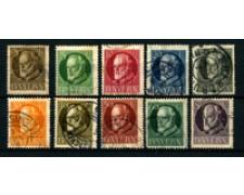 1914/20 - GERMANIA BAVIERA - EFFIGIE DI LUIGI 3° - 10v. USATI
