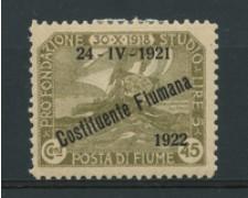 1922 - LOTTO/18817 - FIUME - 45c. COSTITUENTE FIUMANA - LING.