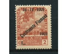 1922 - LOTTO/18818 - FIUME - 2 LIRE COSTITUENTE FIUMANA - LING.