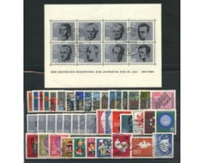 1964 - LOTTO/18857 - GERMANIA FEDERALE - ANNATA COMPLETA 42v.+BF - USATI