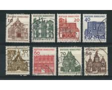 1964/65 - LOTTO/18858 - GERMANIA FEDERALE - EDIFICI 8v. - USATI