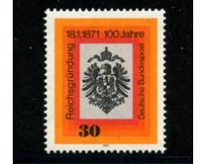 1971 - LOTTO/18906 - GERMANIA FEDERALE - CENTENARIO IMPERO TEDESCO - NUOVO