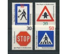 1971 - LOTTO/18910 - GERMANIA FEDERALE - NORME STRADALI 4v. - NUOVI