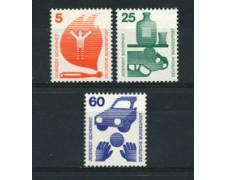 1971 - LOTTO/18915 - GERMANIA FEDERALE - PREVENZIONE INFORTUNI 3v. - NUOVI