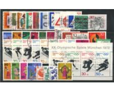 1971 - LOTTO/18916 - GERMANIA FEDERALE - ANNATA CPL. 41v. + BF - USATI