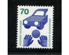 1972 - LOTTO/18919 -  GERMANIA FEDERALE - 70p. INFORTUNI - NUOVO