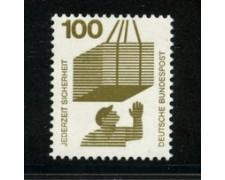 1972 - LOTTO/18920 - GERMANIA FEDERALE - 100p. INFORTUNI - NUOVO