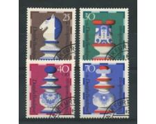 1972 - LOTTO/18922U - GERMANIA FEDERALE - BENEFICENZA SCACCHI 4v. - USATI