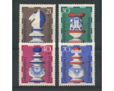 1972 - LOTTO/18922 - GERMANIA FEDERALE - BENEFICENZA SCACCHI 4v. - NUOVI