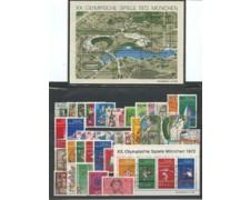 1972 - LOTTO/18927 - GERMANIA FEDERALE  - ANNATA COMPLETA 45V. + 2 FOGLIETTI - USATI