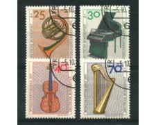 1973 - LOTTO/18935U - GERMANIA FEDERALE - STRUMENTI MUSICALI 4v. -  USATI