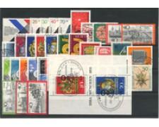 1973 - LOTTO/18937 - GERMANIA FEDERALE - ANNATA COMPLETA  37V.+ BF - USATI