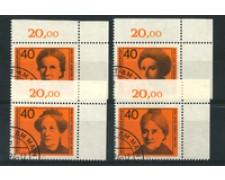 1974 - LOTTO/18938U - GERMANIA FEDERALE - DONNE CELEBRI 4v. - USATI
