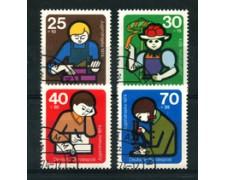 1974 - LOTTO/18939 - GERMANIA FEDERALE - PRO GIOVENTU' 4v. - USATI