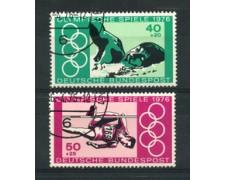 1976 - LOTTO/18975U - GERMANIA FEDERALE - OLIMPIADI MONTREAL  2v. - USATI