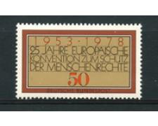 1978 - LOTTO/19006 - GERMANIA - DIRITTI DELL'UOMO - NUOVO