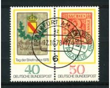 1978 - LOTTO/19007 - GERMANIA - GIORNATA FRANCOBOLLO 2v. - USATI