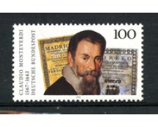 1993 - LOTTO/19074 - GERMANIA - CLAUDIO MONTEVERDI - NUOVO
