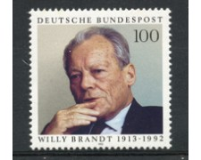 1993 - LOTTO/19076 - GERMANIA - WILLY BRANDT - NUOVO