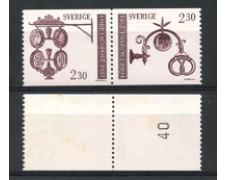 1981 - LOTTO/19130 - SVEZIA - ANTICHE INSEGNE 2v. - NUOVI