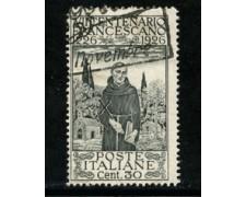 1926 - LOTTO/19131 - REGNO - 30c. S.FRANCESCO - USATO