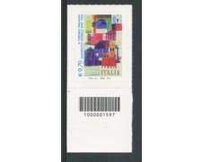 2014 - LOTTO/19159CB - REPUBBLICA - MANIFESTO ENIT - NUOVO CODICE A BARRE