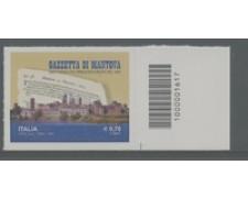 2014 - LOTTO/19167CB - REPUBBLICA - GAZZETTA DI MANTOVA - NUOVO CODICE A BARRE