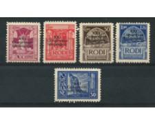 1930 - LOTTO/19188 - EGEO - CONGRESSO IDROLOGICO 5v. - SENZA GOMMA