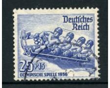 1935 - LOTTO/19196 - GERMANIA REICH - 25+15p. OLIMPIADI INVERNALI - USATO