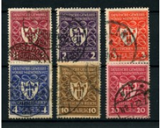 1922 - LOTTO/19211 - GERMANIA REICH - ESPOSIZIONE INDUSTRIALE 6v. - USATI