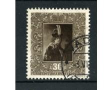 1949 - LOTTO/19231 - LIECHTENSTEIN - 30r. QUADRI REMBRANDT - USATO