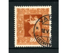 1949 - LOTTO/19234 - LIECHTENTEIN  - 80r. QUADRO DI O.GENTILESCHI - USATO
