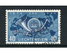 1949 - LOTTO/19236 - LIECHTENSTEIN - 40r. U.P.U. - USATO