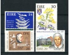 1987 - LOTTO/19451 - IRLANDA - ANNIVERSARI DIVERSI 4v. - NUOVI