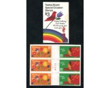 1988 - LOTTO/19549 - STATI UNITI - MESSAGGI AUGURALI - LIBRETTO