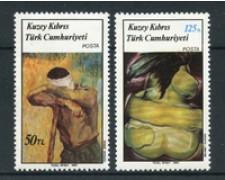 1987 - CIPRO TURCA - LOTTO/19636 - DIPINTI 2v.  NUOVI