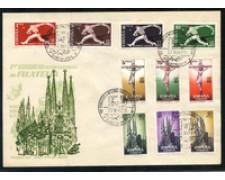 1960 - LOTTO/19664 - SPAGNA - CONGRESSO  DI FILATELIA - BUSTA FDC