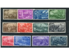 1948 - LOTTO/19697 - REPUBBLICA - CENTENARIO RISORGIMENTO 12v. - NUOVI