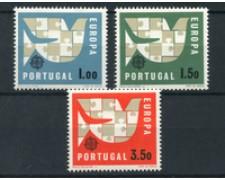 1963 - LOTTO/19714 - PORTOGALLO -  EUROPA 3v. - NUOVI