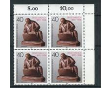 1988 - LOTTO/19991Q - BERLINO - ERNEST BARLACH - QUARTINA