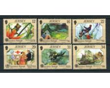 1988 - LOTTO/19995 - JERSEY - OPERAZIONE RALEIGH 6v. - NUOVI