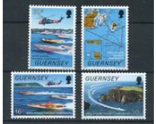 1988 - LOTTO/20010 - GUERNSEY - MOTONAUTICA 4v. - NUOVI