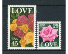 1988 - LOTTO/20016 - STATI UNITI - LOVE 2v. - NUOVI