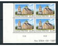 1988 - LOTTO/20092Q - FINLANDIA - CHIESA DI KERIMAKI - QUARTINA NUOVI