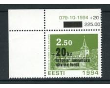 1994 - LOTTO/20232 - ESTONIA - PRO VITTIME 1v. -  NUOVO