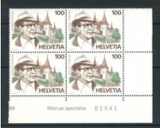 1994 - LOTTO/20279Q - SVIZZERA - GEORGES SIMENON - QUARTINA NUOVI