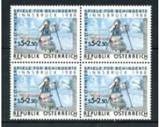 1988 - LOTTO/20290Q - AUSTRIA - GIOCHI DI INNSBRUCK - QUARTINA NUOVI