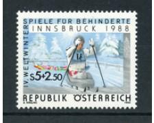 1988 - LOTTO/20290 - AUSTRIA -  GIOCHI DI INNSBRUCK - NUOVO
