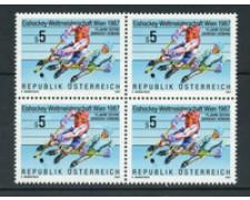1987 - LOTTO/20292Q - AUSTRIA - CAMPIONATI DI HOCKEY - QUARTINA